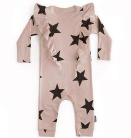 NuNuNu NuNuNu - Powder Pink Ruffled Star Playsuit
