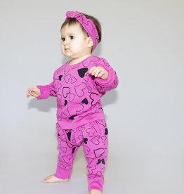 Pink Peony - Top & Bottom Set - Hot Pink/Confetti
