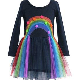 Hannah B/B Sara Baby Sara - Rainbow Print Tutu Dress
