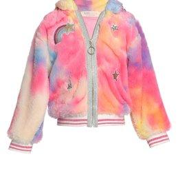 Hannah B/B Sara Baby Sara - Rainbow Faux Fur Hoodie