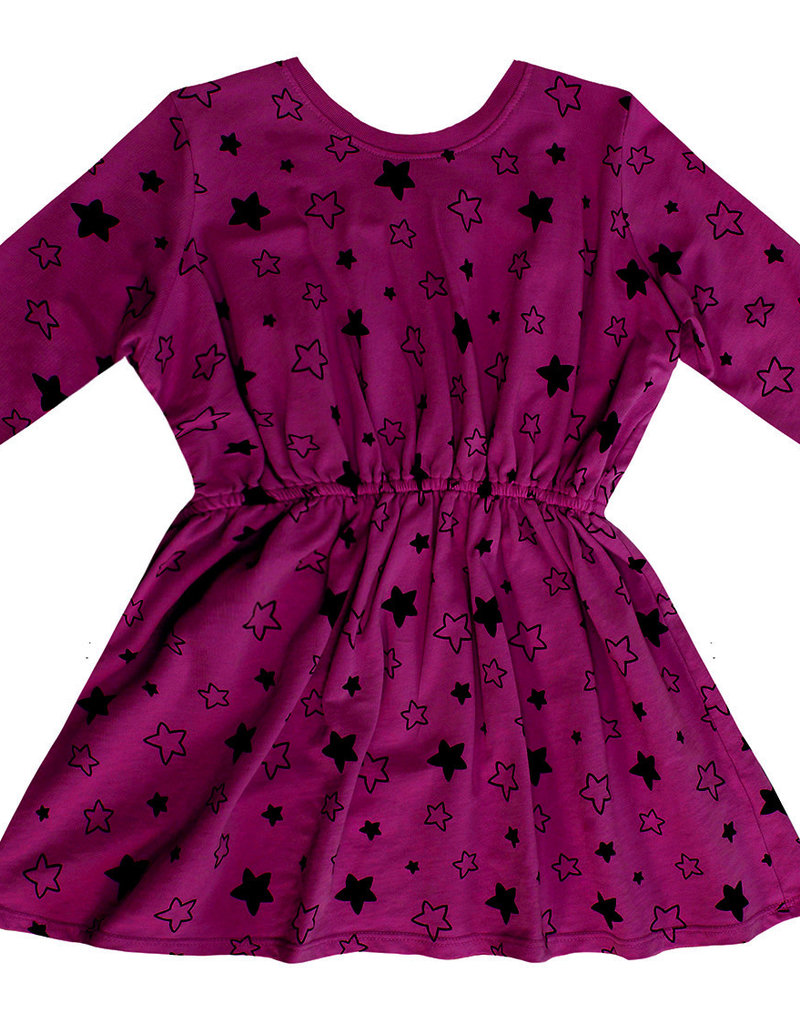 Pink Peony - Sweater Dress - Mulberry/Starbright