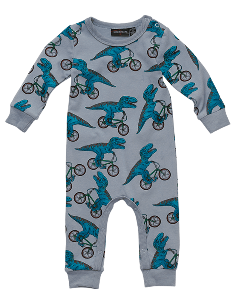 Rock Your Baby Rock Your Baby - Dino Bike Playsuit