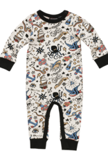 Rock Your Baby Rock Your Baby - Pirate Ink Playsuit