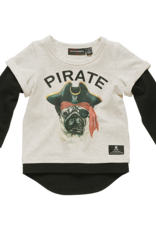 Rock Your Baby Rock Your Baby - Pirate Pug T-Shirt