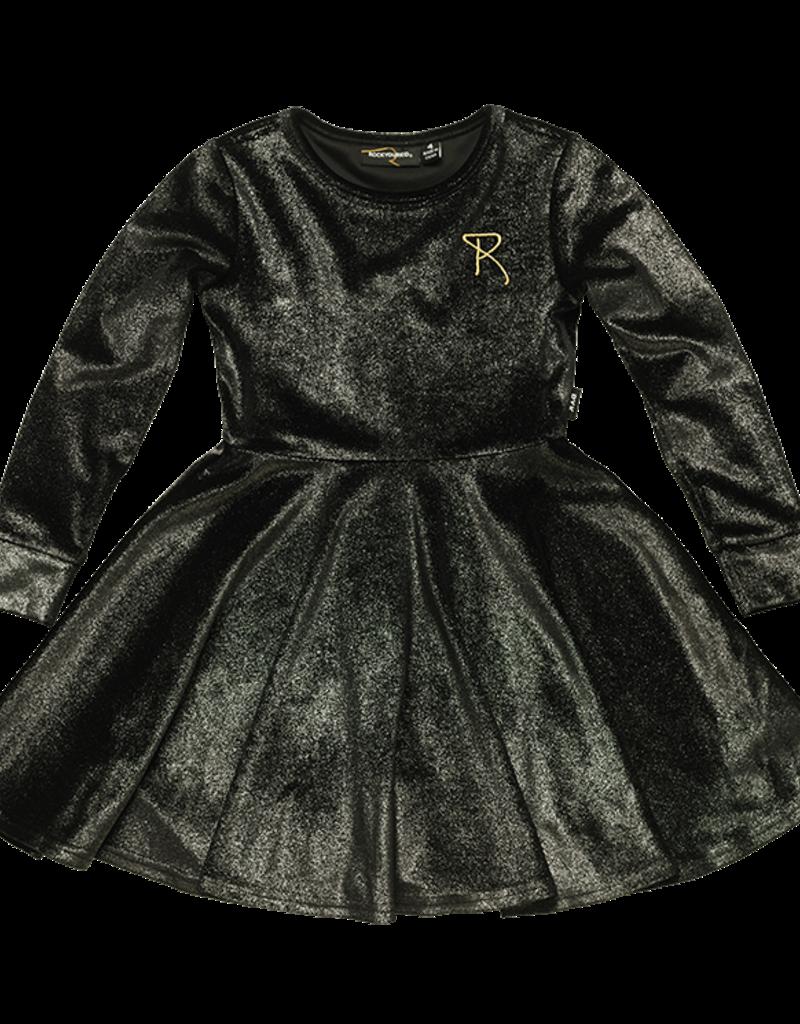 Rock Your Baby Silver Velvet Dress Koukla Children S Boutique