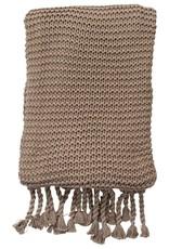 Comfy Knit Throw Stone