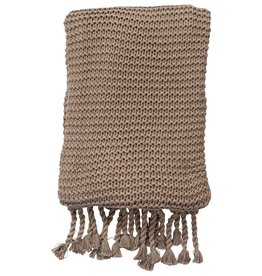 Comfy Knit Throw Stone