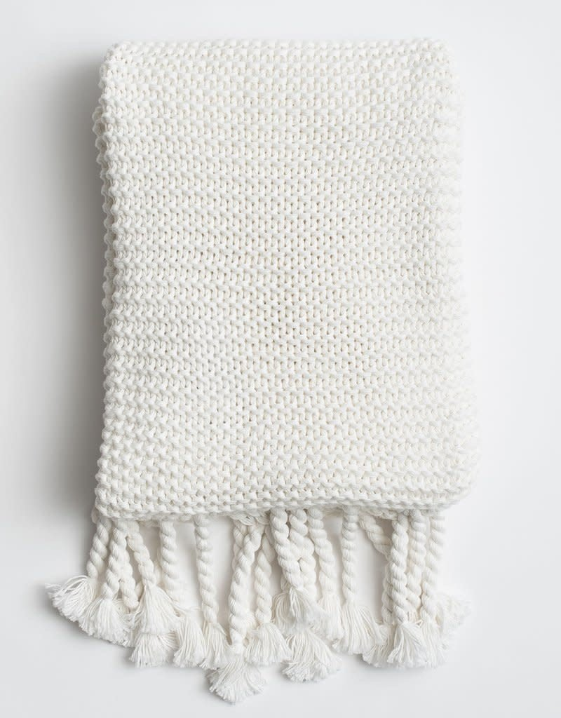 Comfy Knit Throw White