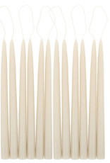 "Taper Candles 12"" Parchment 1 pair"