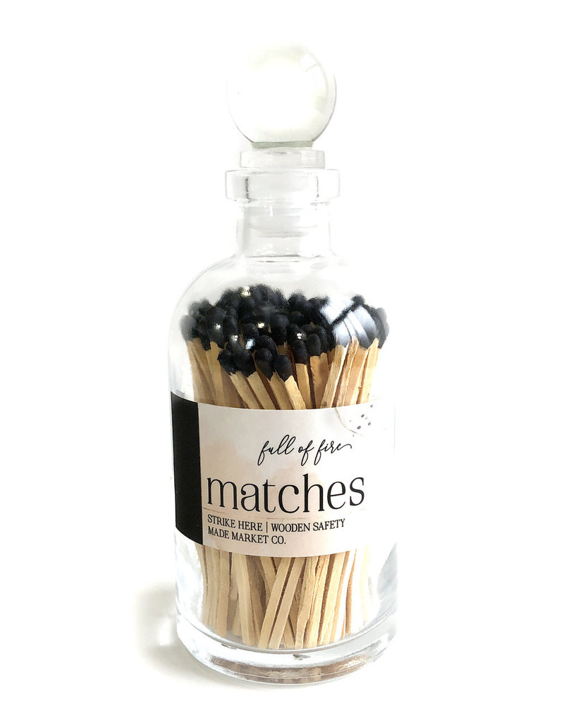 FULL OF FIRE MATCHES- BLACK