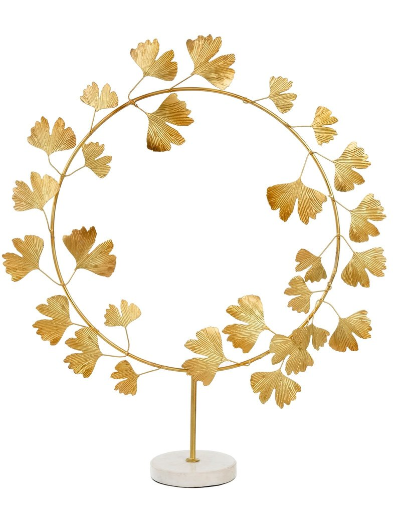Ginko Wreath on Stand