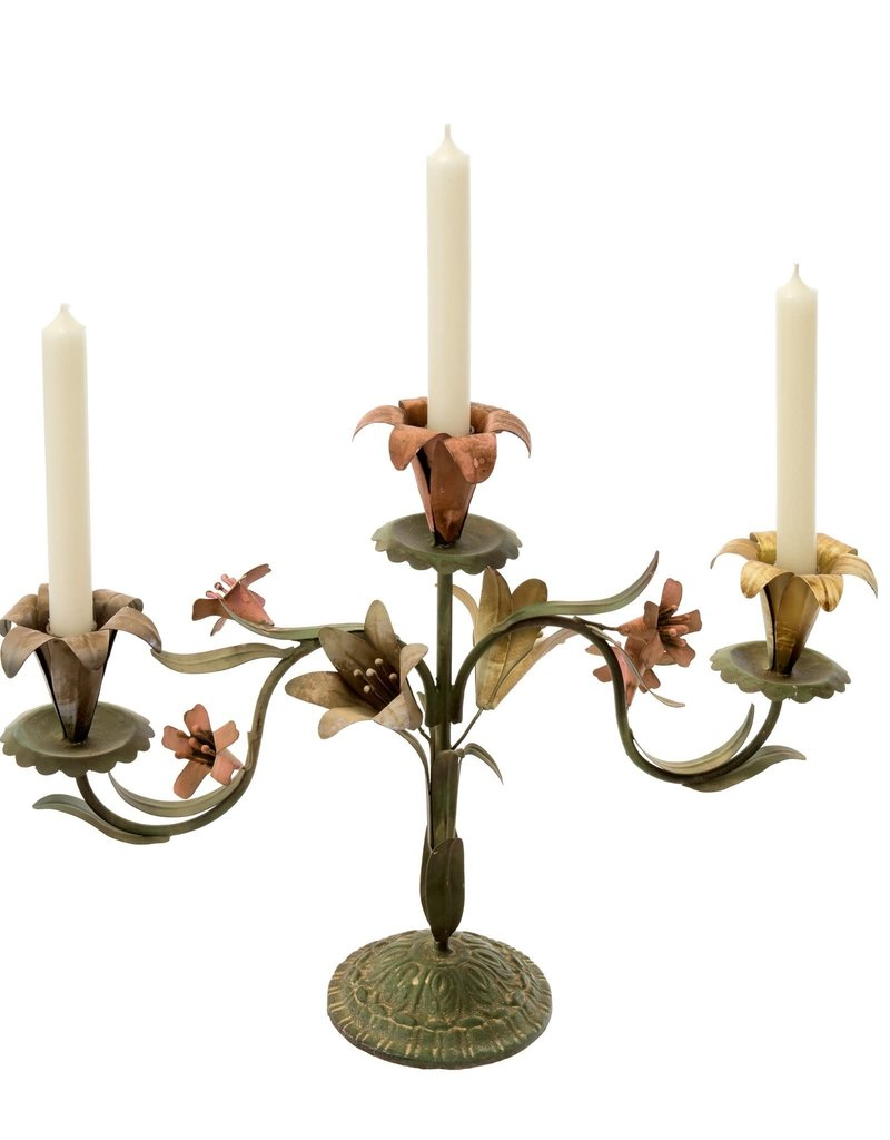 Tulip Bloom Triple Candle Holder
