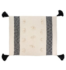 Zahra Throw, Black