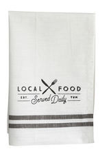 """""""Local Food"""" Tea Towel"""
