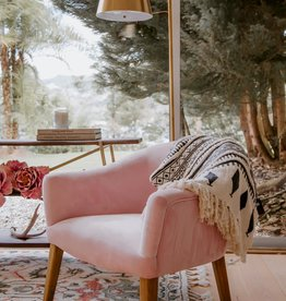 Pink Velvet Sofa Chair