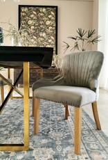 Grey velvet Dining Chair