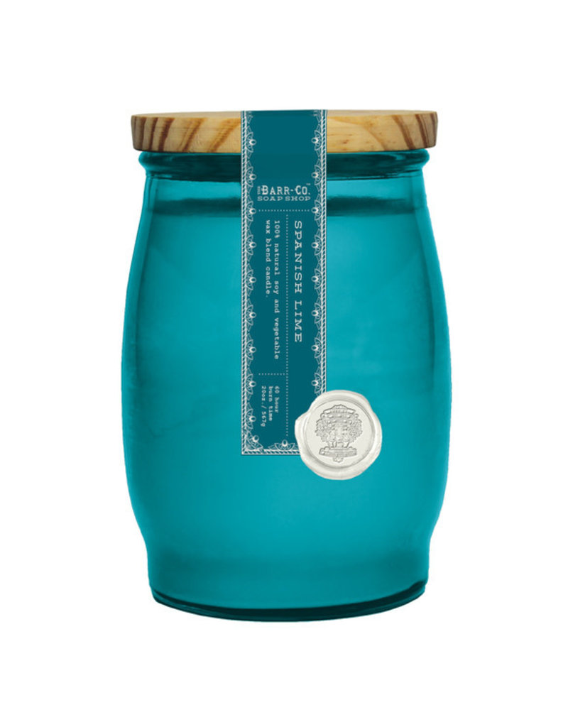 Barrel Glass Candle - Spanish Lime