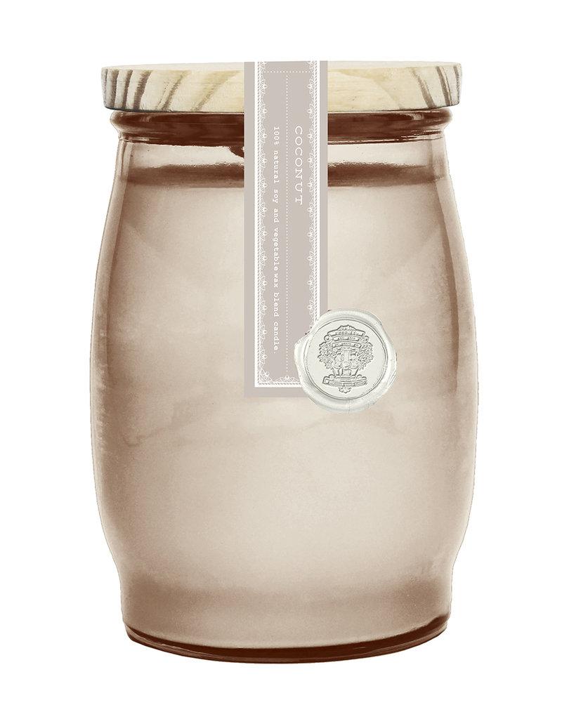 Barrel Glass Candle - Coconut