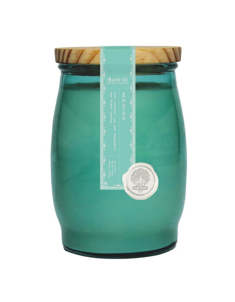 Barrel Glass Candle - Marine