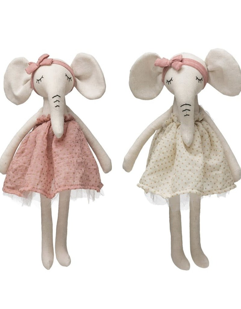 Elephant in Dress, 2 Colors