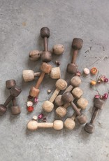Found Wood Dumbbell, Set 2