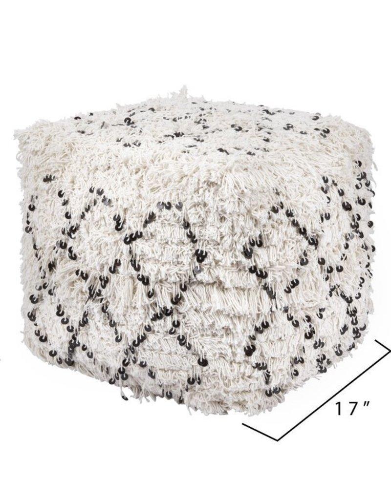 Cotton Moroccan Wedding Quilt Pouf