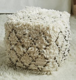 Cotton Moroccan Wedding Quilt Pouf