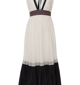 GILDA DRESS PENTAGRAM WHITE