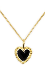 Black Heart Necklace Large DS