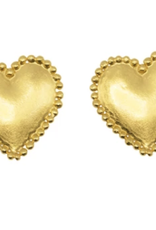 Golden heart small earring DS