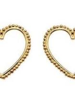 Heart silhouette large earrings DS
