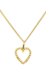 White Heart mini Necklace DS