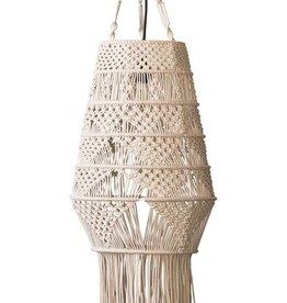 Hand Woven Cotton Macrame Pendant Lamp