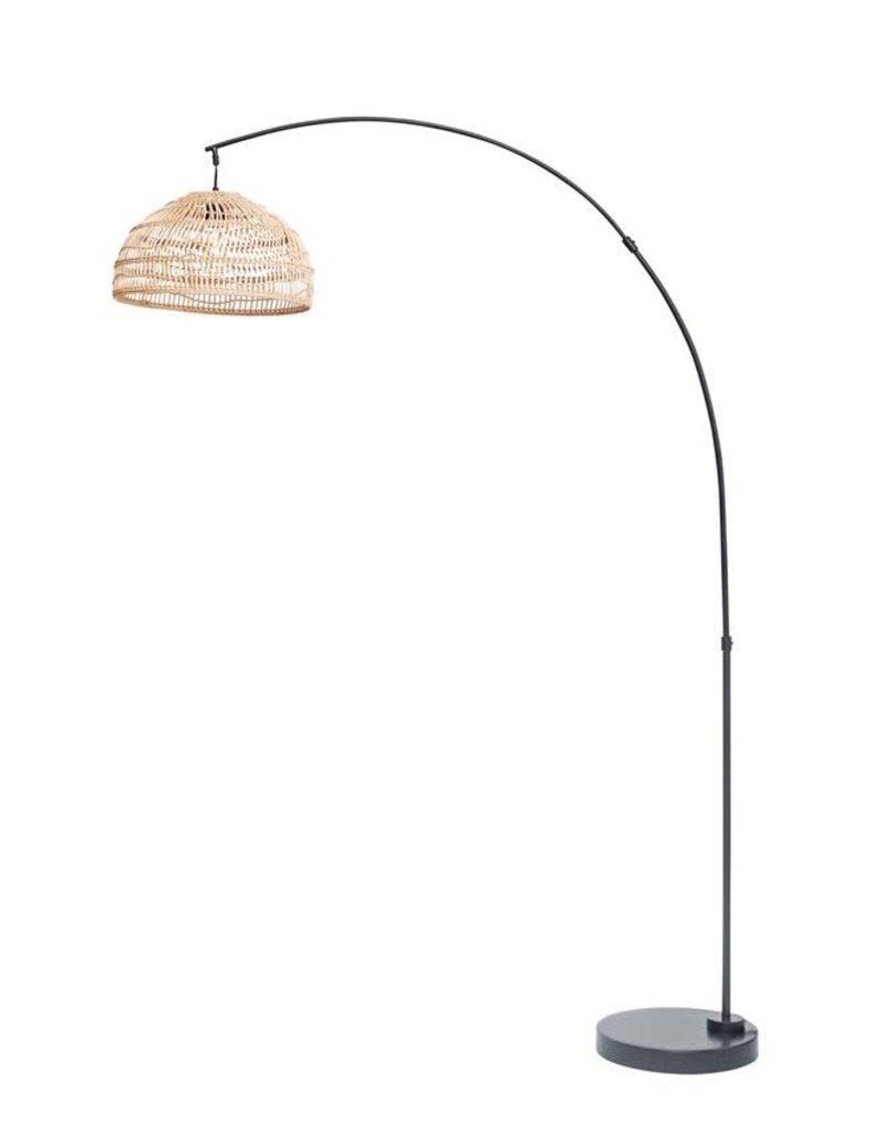 Floor Lamp w/ Woven Wicker Shade