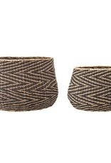 Woven Seagrass Baskets Both