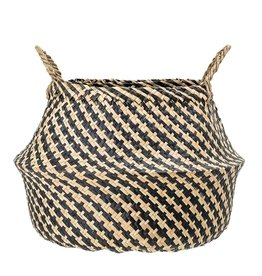 Black Natural Seagrass Basket