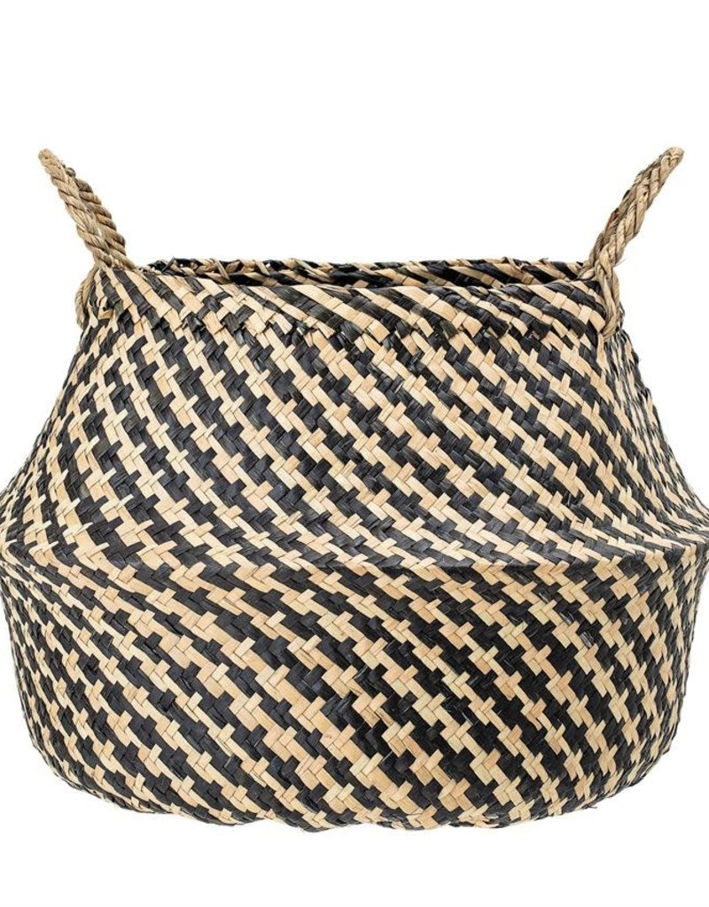 Black Natural Seagrass Basket