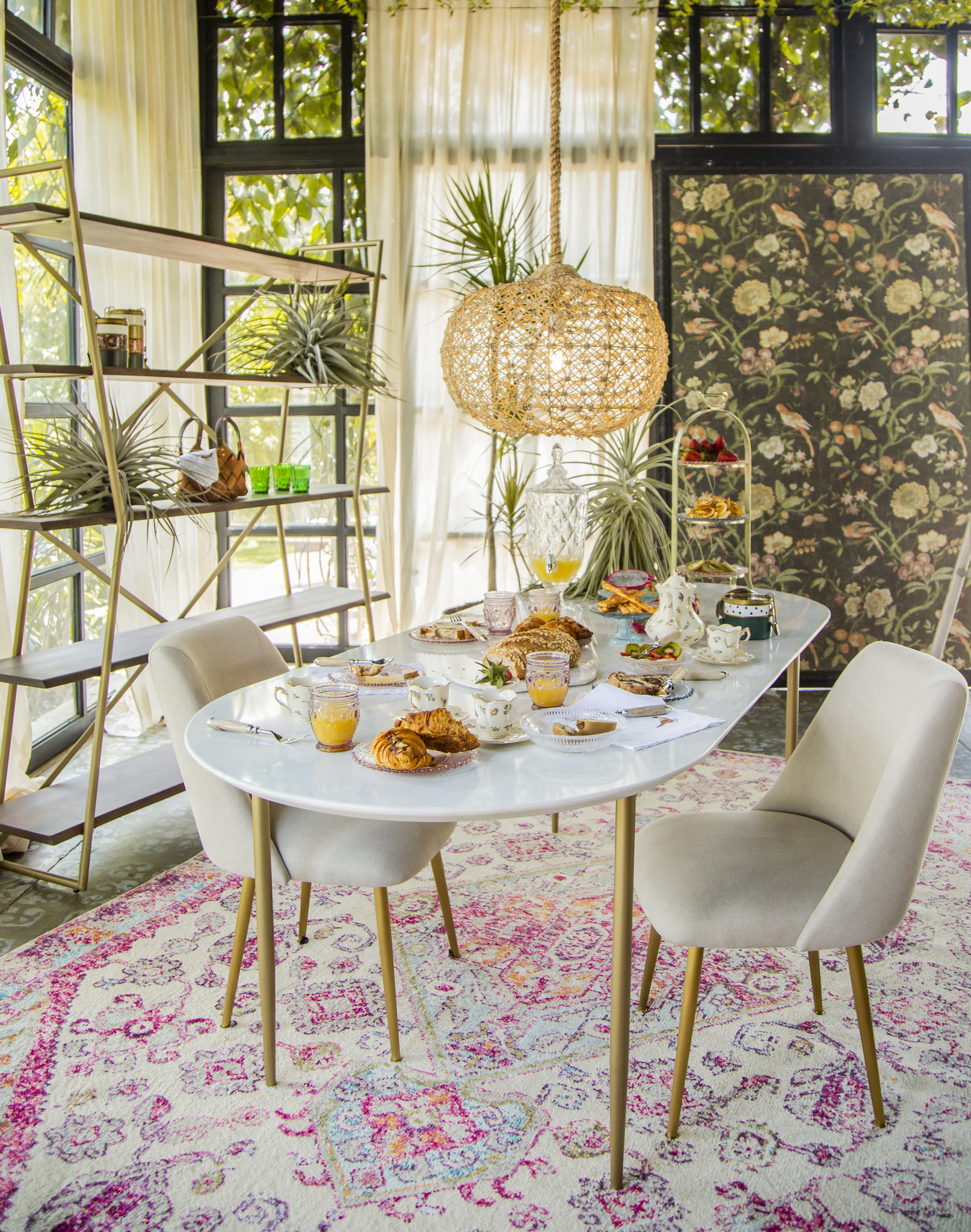 White Marble Dining Table Zona E Home