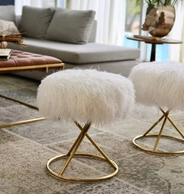 Lamb Fur Stool