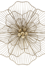 Gold Wire Flower Wall Decor