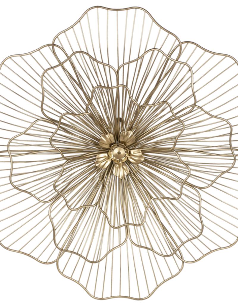 Ganz Gold Wire Flower Wall Decor