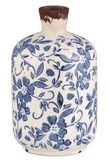 Fire Vintage Blue Large Bottle Vase