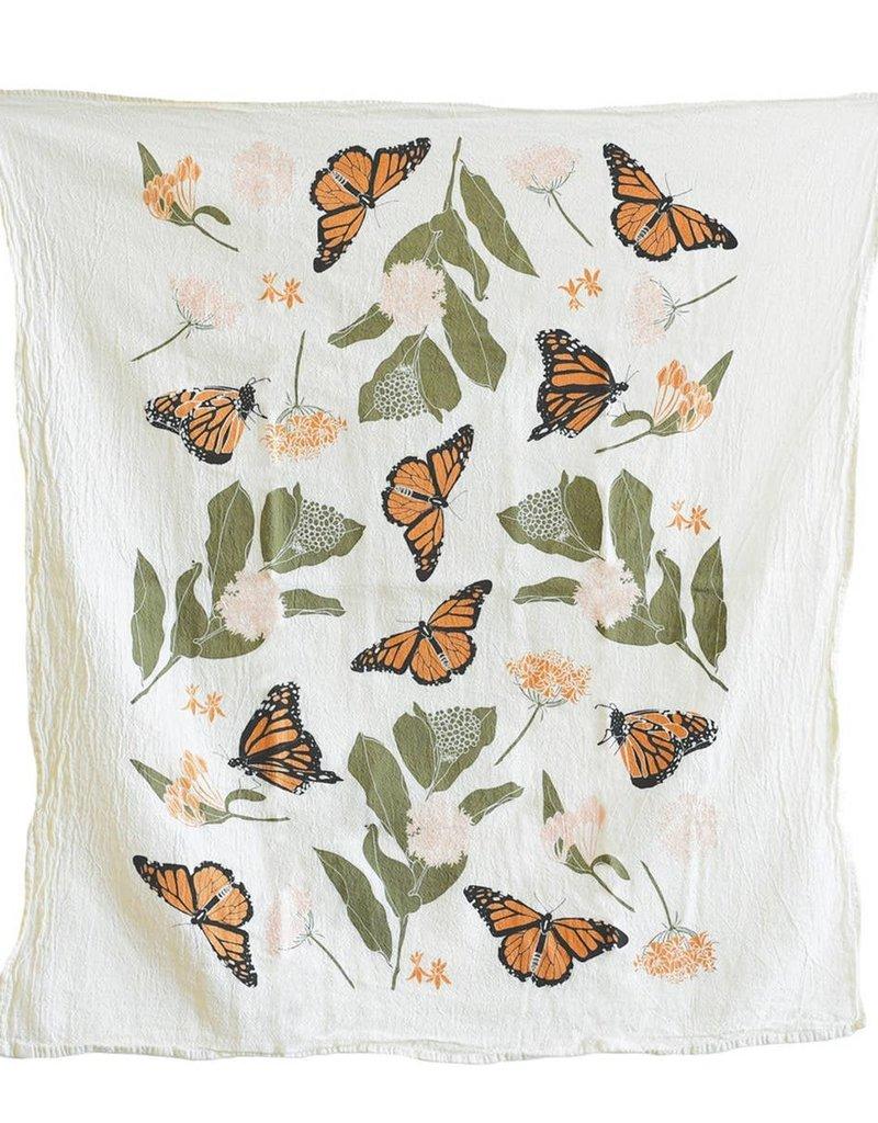Fire Monarchs + Milkweeds Towel