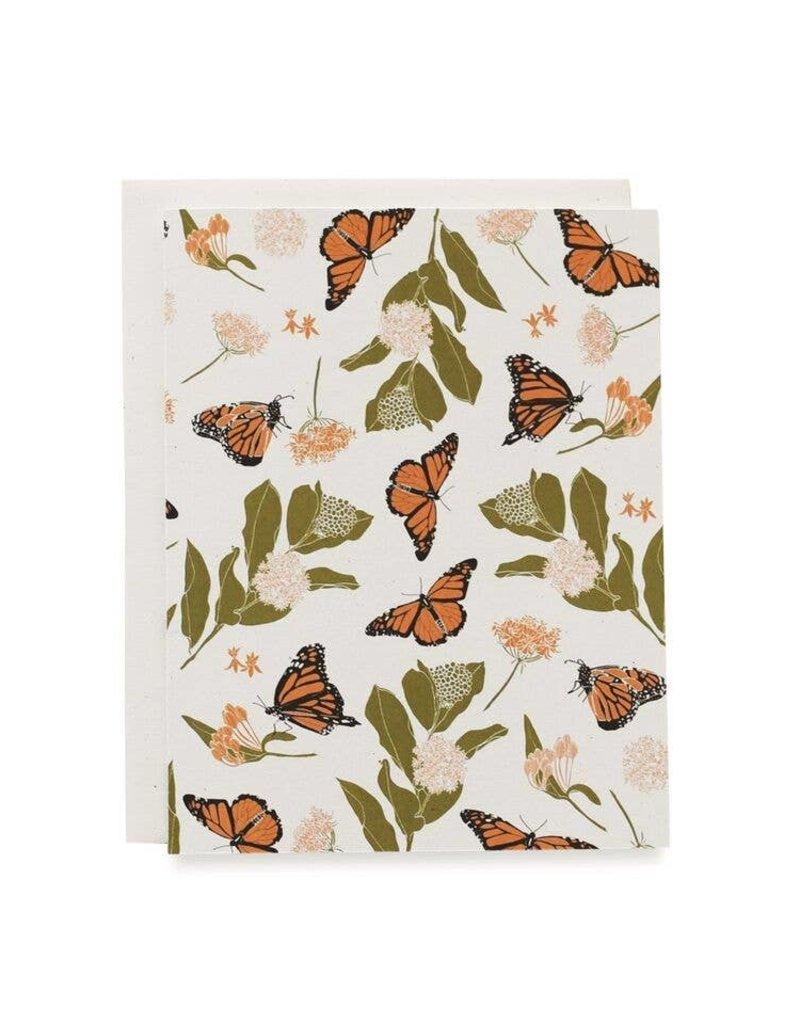 Fire Monarchs + Milkweeds Card
