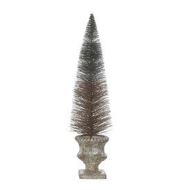 Bottle Brush Tree in Resin Urn