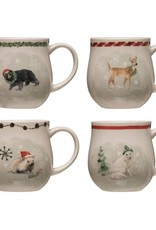 Christmas Stoneware Mug w/ Animals