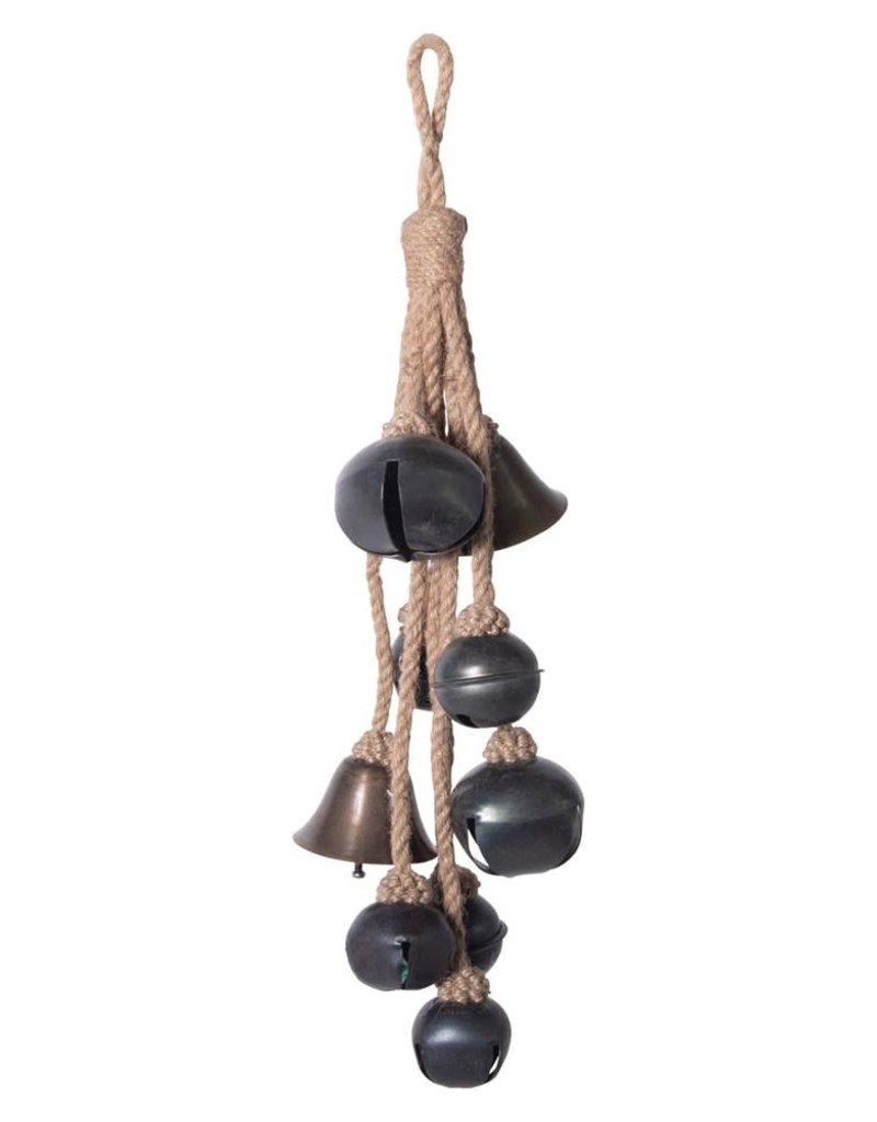 Metal Bells on Jute Hanger