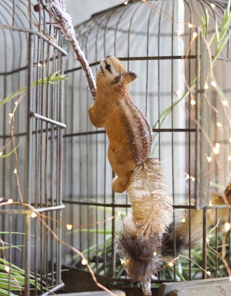 Faux & Sisal Climbing Squirrel