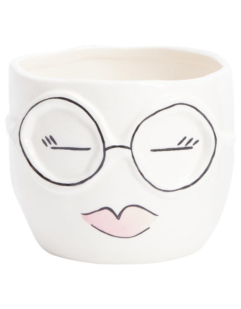 Face Spectacles Pot