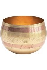 Engraved Metal Pot